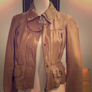Jackets & Blazers - Camel Leather Jacket